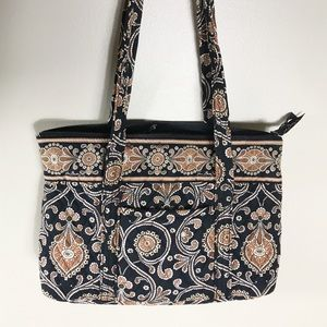 EUC✨VERABRADLEY Medium Tote Caffe Late Black/Brown